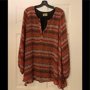 Show Me Your Mumu Orange Print Dress - Size L